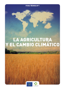 Portada Fact sheet nº 1. Agriculture and climate change