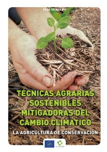 Portada Fact sheet nº 2. Sustainable farming techniques mitigation of climate change. Conservation Agriculture
