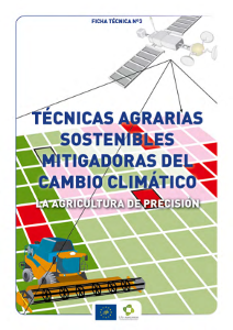 Portada Fact sheet nº 3. Sustainable farming techniques mitigation of climate change. Precision agriculture