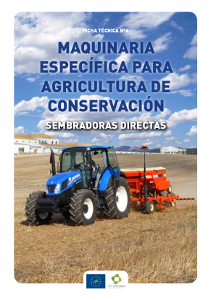 Portada Fact sheet nº 4. Specific machinery for Conservation Agriculture. Direct seeders
