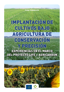 Portada Fact sheet nº 5. Implementation of crops under conservation and precision agriculture. Experiences of the project LIFE+AGRICARBON
