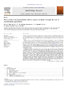 Portada Meta-analysis on atmospheric carbón capture in Spain through the use of Conservation Agriculture