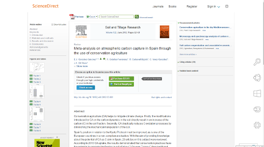 Portada Meta-analysis on atmospheric carbon capture in Spain through the use of conservation agriculture